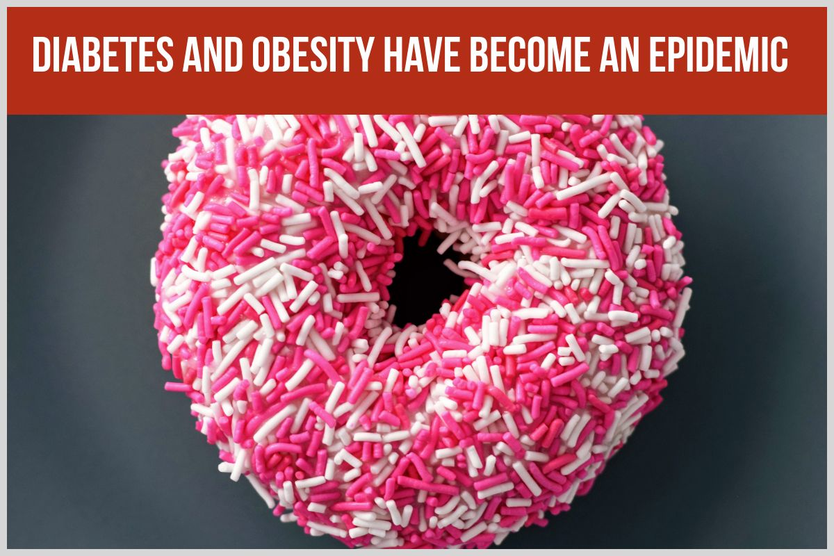Blog post image of donut with pink and white sprinkles