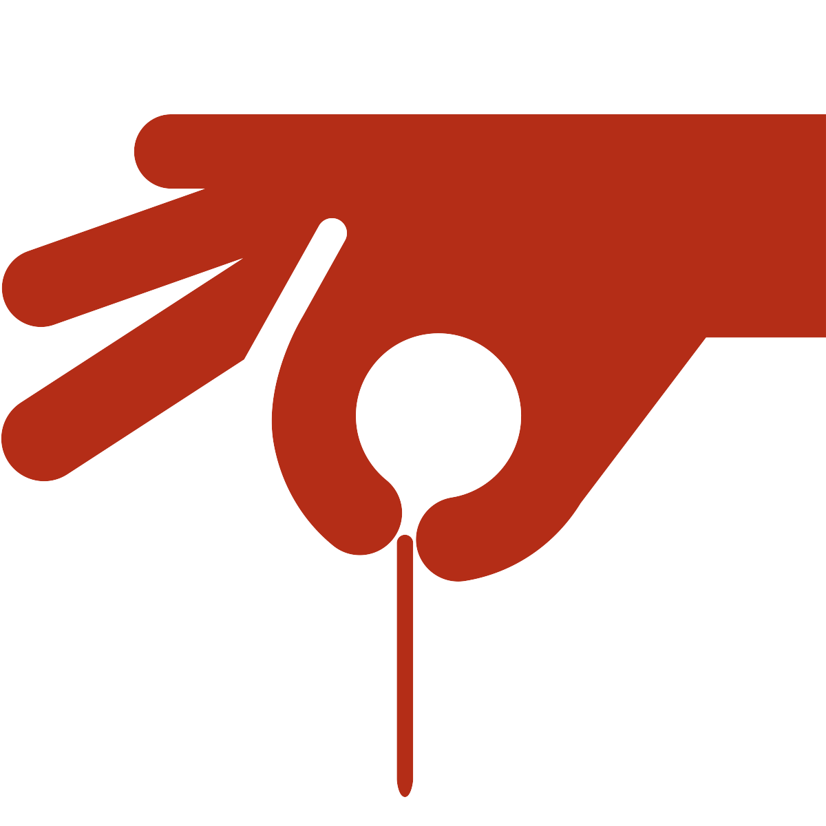 icon of hand holding an acupuncture needle