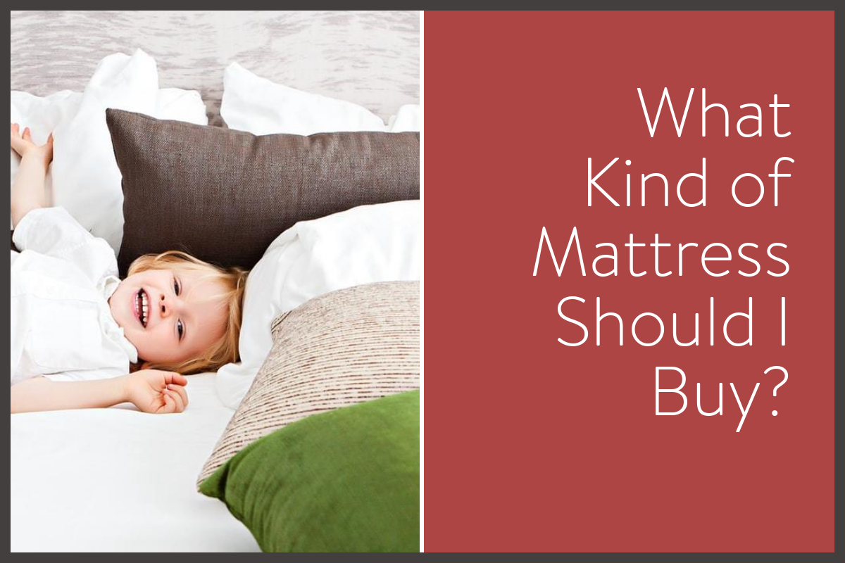 blog post image showing a kid smiling on a bed