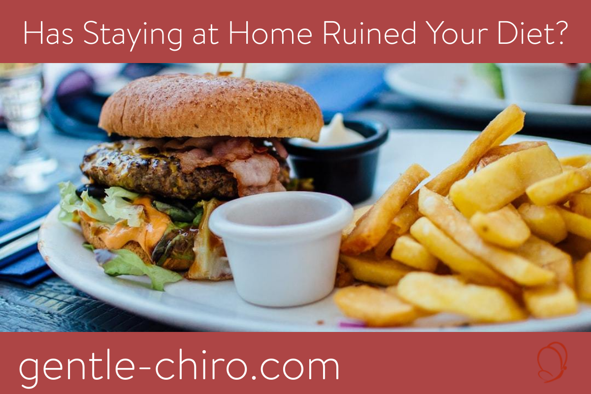 blog post image with a burger and fries